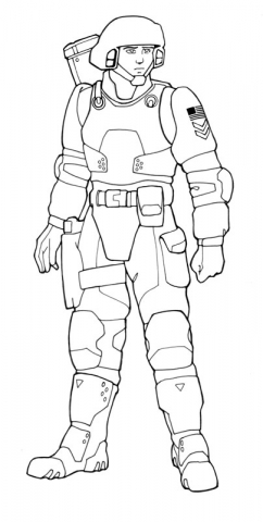 Line art for American Marine