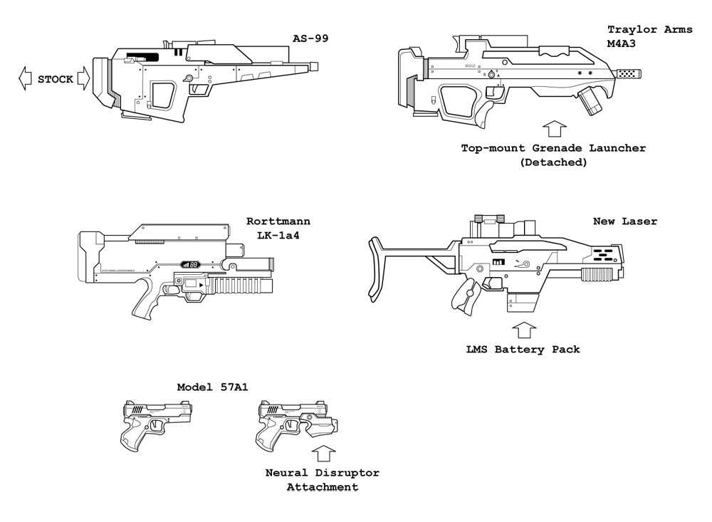 Weapons Redesigns