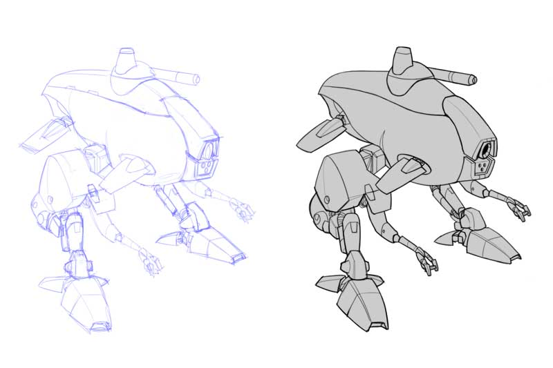 """Catfish"" aquatic-capable combat walker design"