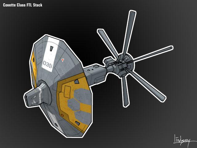 Exodus War Corvette Concept A2-004
