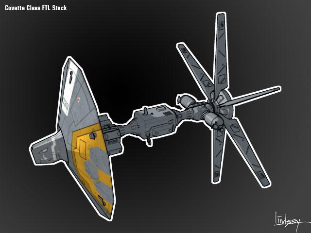 Exodus War Corvette Concept A2-009