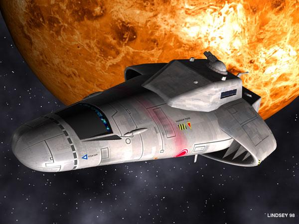 Free Trader leaving orbit