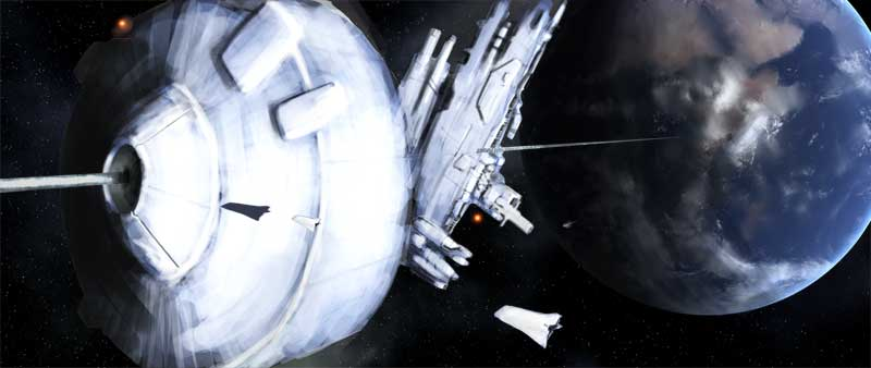 Gateway Station Space Elevator