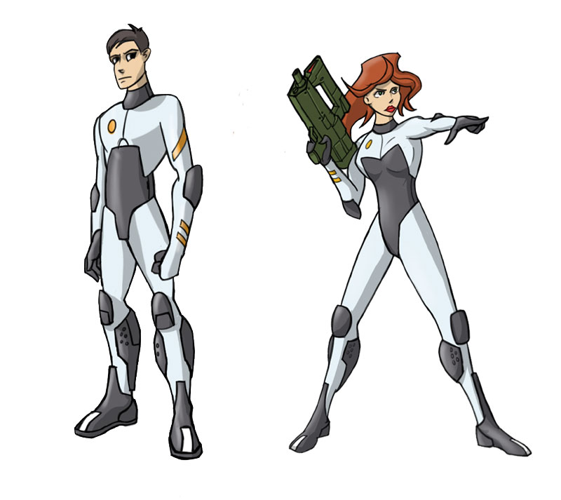 Gun Girl and Space Boy