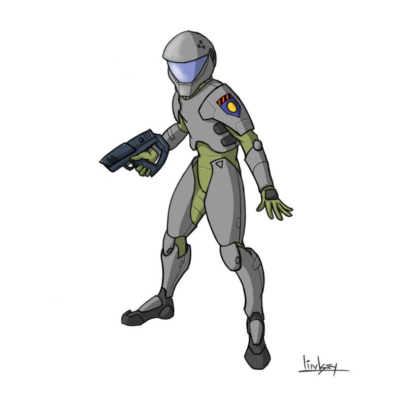 Armor shell with helmet