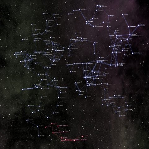 3D modeled starmap of human and Kafer space