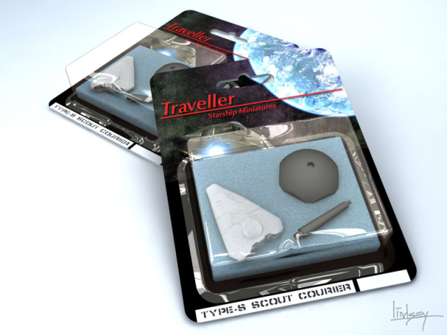 Traveller miniatures retail blister pack concept