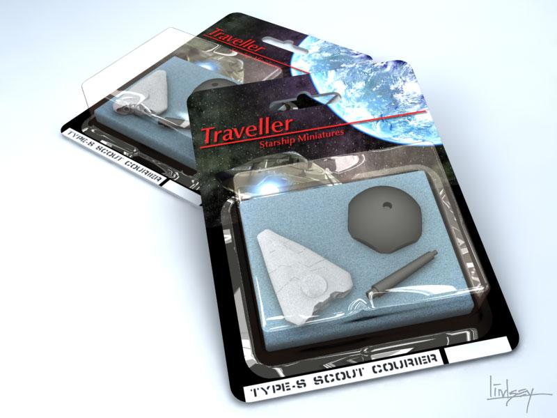 Traveller miniatures retail blister pack concept